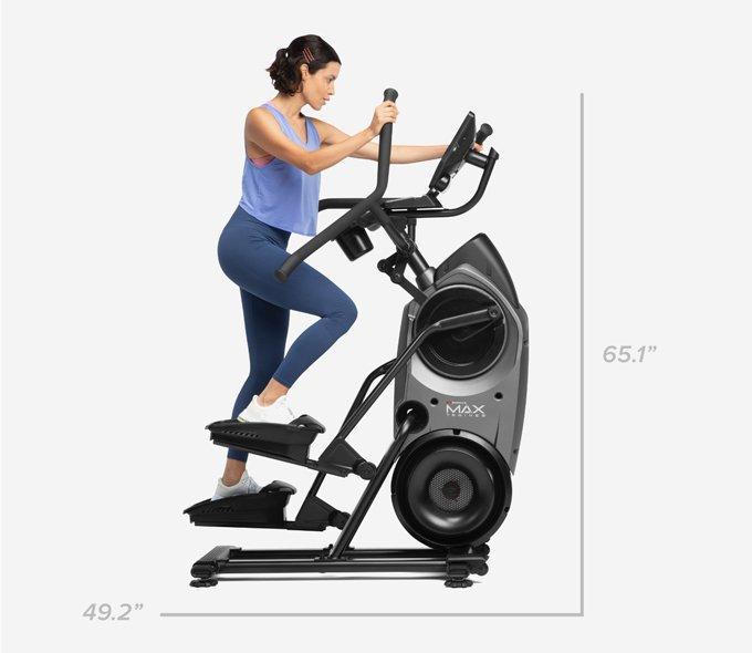 Max Trainer M9 dimensions - 49.2 inches Wide by 65.1 inches high
