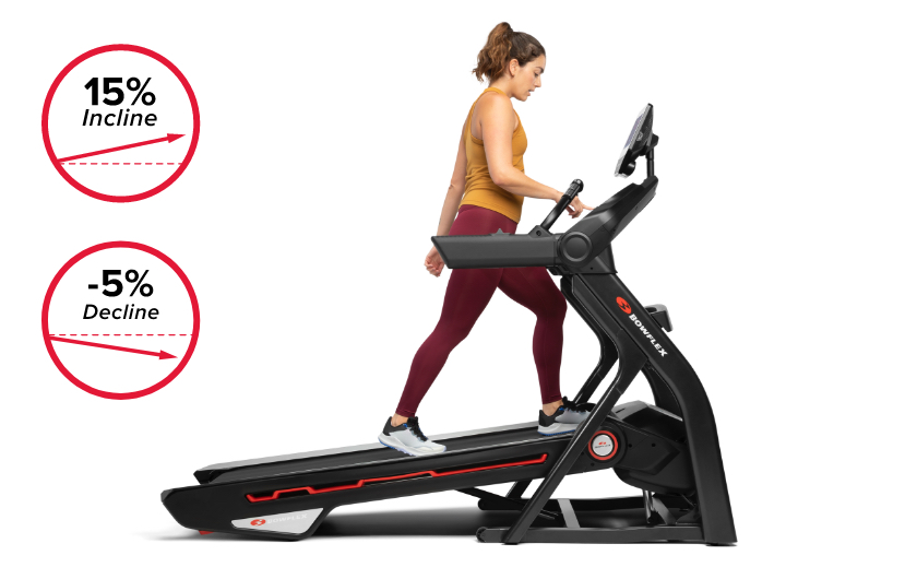 Treadmill 10 comes with motorized incline up to 15% and decline capabilities up to -5%