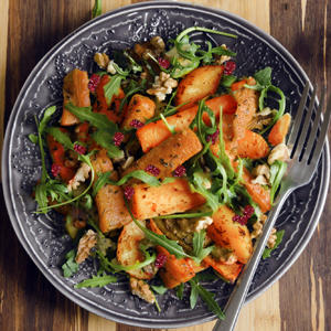 Roasted Sweet Potato & Carrot Salad with Apple Cider Dressing