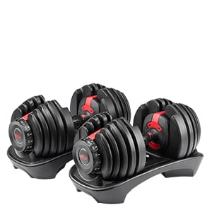 Yes4All 105 lb Adjustable Dumbbell Weight Set 2 x 52.5 lb Like Bowflex