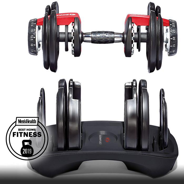 7aba47bb212 The 552 adjustable dumbbells feature the ability to select the weight you  want.